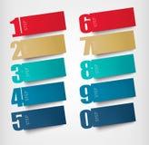 Banderas de papel de la papiroflexia con números stock de ilustración