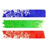 Banderas de papel de la raya del arco iris ilustración del vector
