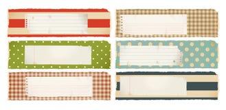 Banderas de papel - horizontales Imagenes de archivo