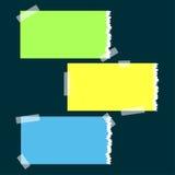 Banderas de papel rasgadas stock de ilustración