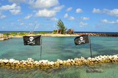 Banderas de pirata Fotografía de archivo