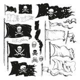 Banderas de pirata Foto de archivo libre de regalías