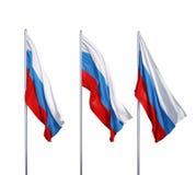Banderas de Rusia Imagen de archivo libre de regalías