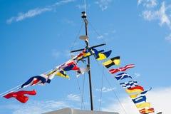 Banderas de señal Fotografía de archivo libre de regalías