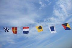 Banderas de señal coloridas Imagen de archivo libre de regalías