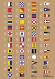 Banderas de señal marítimas ilustración del vector