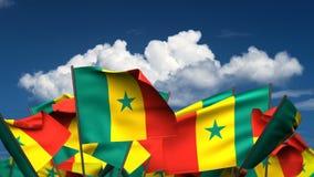 Banderas de Senegal que agitan libre illustration