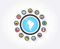 Banderas de Suramérica Foto de archivo libre de regalías