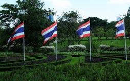 Banderas de Tailandia Imágenes de archivo libres de regalías