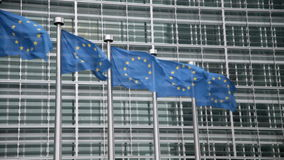 Banderas de unión europea metrajes