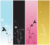 Banderas decorativas ilustración del vector