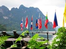Banderas del AEC Imagenes de archivo