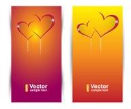 Banderas del amor del vector Fotografía de archivo libre de regalías