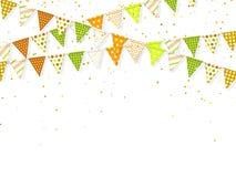banderas del banting 3d con el confeti por días de fiesta indios ilustración del vector