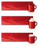 Banderas del café Imágenes de archivo libres de regalías