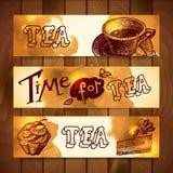Banderas del café y del té Foto de archivo libre de regalías