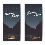 Banderas del campamento de verano Fotografía de archivo