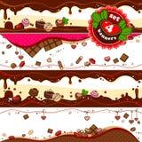 Banderas del caramelo de chocolate Foto de archivo libre de regalías