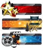 Banderas del cine Imagen de archivo libre de regalías