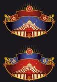 Banderas del circo de la noche Fotografía de archivo libre de regalías