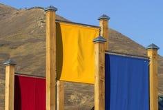 Banderas del color Imagen de archivo libre de regalías
