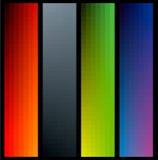 Banderas del color del gradiente Foto de archivo