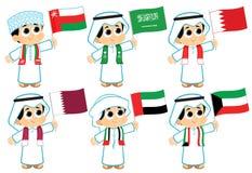 Banderas del Consejo de Cooperación del Golfo stock de ilustración