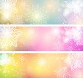 Banderas del copo de nieve Imágenes de archivo libres de regalías