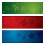 Banderas del copo de nieve de la Navidad Foto de archivo