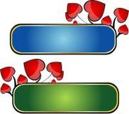 Banderas del corazón Imagen de archivo libre de regalías