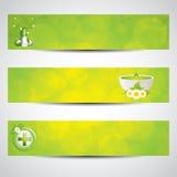 Banderas del cuidado médico ilustración del vector