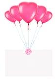Banderas del día de fiesta con los globos de la tarjeta del día de San Valentín Fotos de archivo libres de regalías