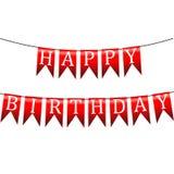 Banderas del día de fiesta. Feliz cumpleaños Fotos de archivo libres de regalías