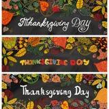 Banderas del día de la acción de gracias Autumn Leaves pizarra Fotografía de archivo