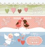 Banderas del día de San Valentín stock de ilustración