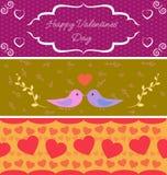 Banderas del día de San Valentín Fotos de archivo libres de regalías