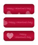 Banderas del día de San Valentín Foto de archivo