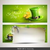 Banderas del día de St Patrick Imagen de archivo libre de regalías