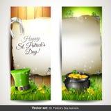 Banderas del día de St Patrick Fotos de archivo