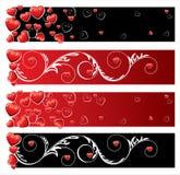 Banderas del día de tarjeta del día de San Valentín Fotos de archivo libres de regalías