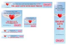 Banderas del día de tarjeta del día de San Valentín Imagen de archivo libre de regalías