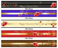 Banderas del día de tarjeta del día de San Valentín del Leaderboard libre illustration