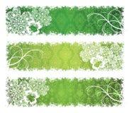Banderas del día del St. Patrick. Fotografía de archivo