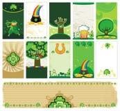 Banderas del día del St. Patrick Imagen de archivo