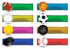 Banderas del deporte Fotografía de archivo libre de regalías