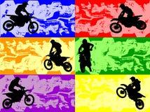 Banderas del deporte de Grunge Foto de archivo libre de regalías