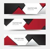 Banderas del diseño moderno stock de ilustración