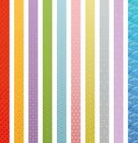 Banderas del diseño tradicional japonés. Foto de archivo