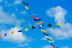 Banderas del empavesado Imagen de archivo libre de regalías