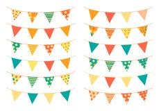 Banderas del empavesado en colores brillantes Fotografía de archivo libre de regalías